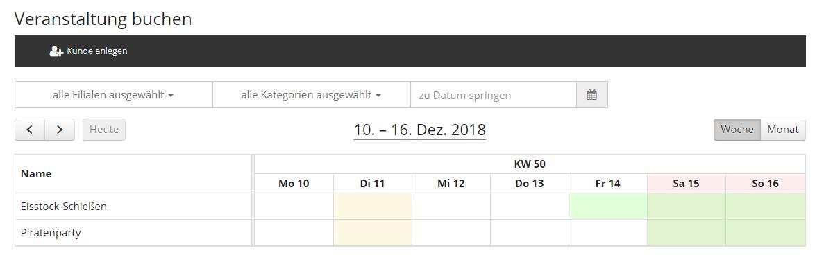 Veranstaltung - Kalender