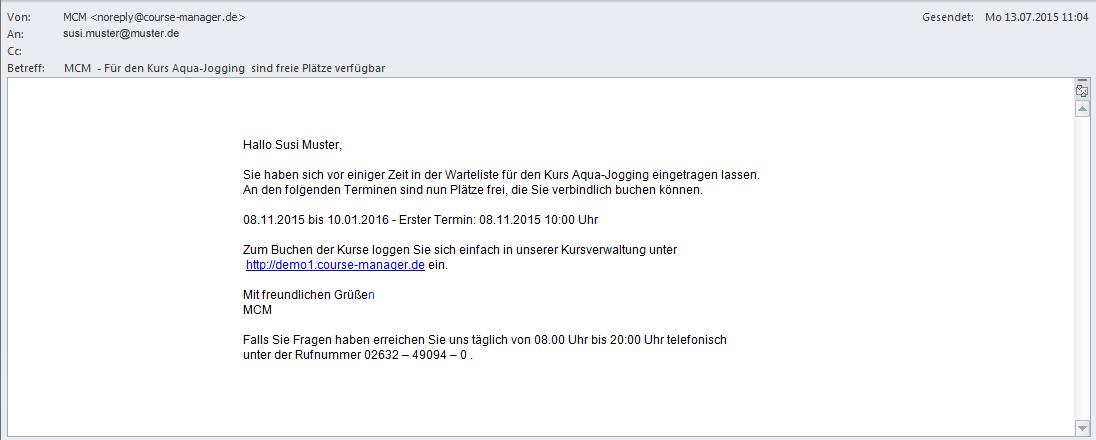 E-Mail-Texte - versendete E-Mail