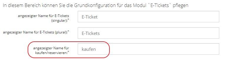 Angezeigter Namen für E-Tickets kaufen oder reservieren