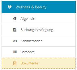 Wellness-Dokumente
